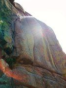 Rock Climbing Photo: Sunset send!