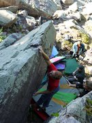 Rock Climbing Photo: And one photo of me sticking the lip, photo Saterm...