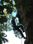 Rock Climbing Photo: Me on Sanctified