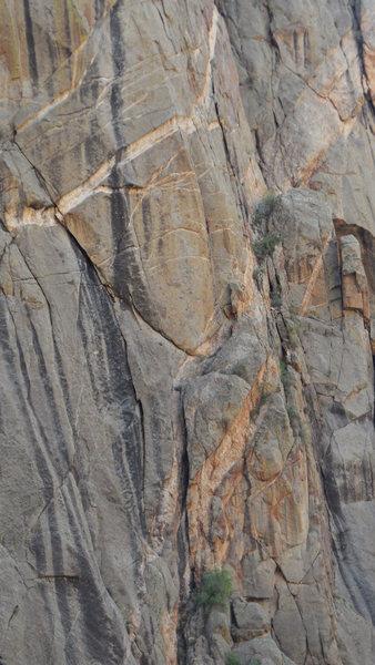 Rock Climbing Photo: Climbers on pitch 3, 9/12/2014.