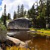 Illustrates the beautiful setting of this climb-boulder problem-TR. Photo: B. Morris.