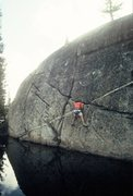 """Rock Climbing Photo: Scott Cole soloing """"Creature from the Black L..."""
