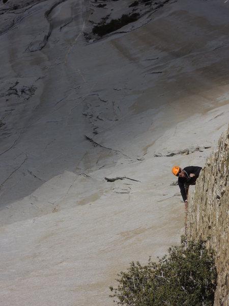 Rock Climbing Photo: Casey follows the 8th pitch