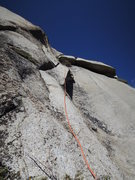 Rock Climbing Photo: Looking up at the second half of the super long 11...