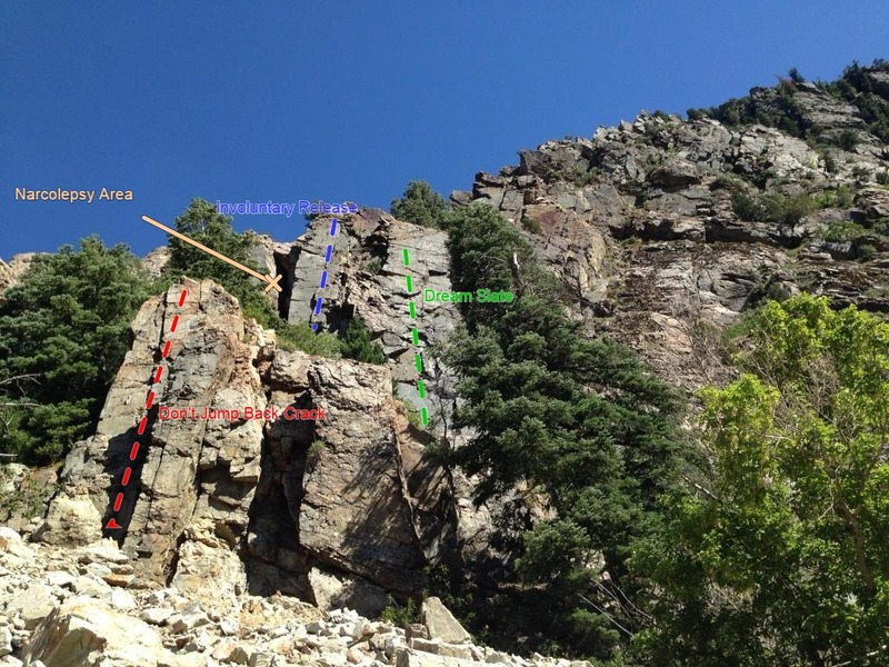 Rock Climbing Photo: Image contains Don't Jump Back Crack as well as In...