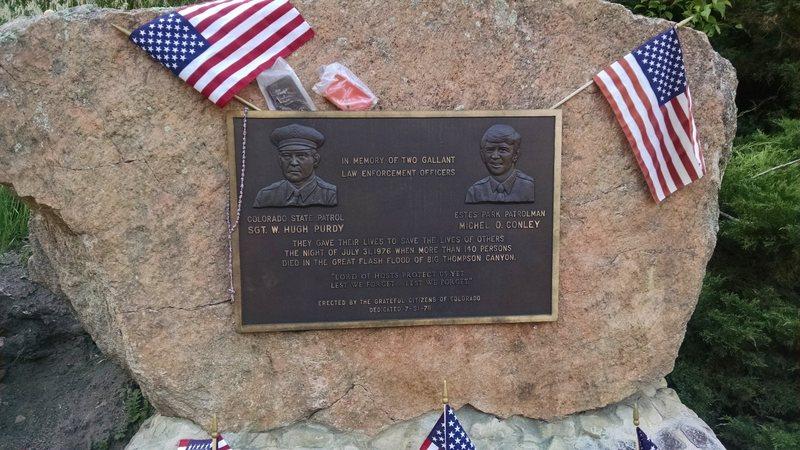 Memorial near Nancy's Rock.