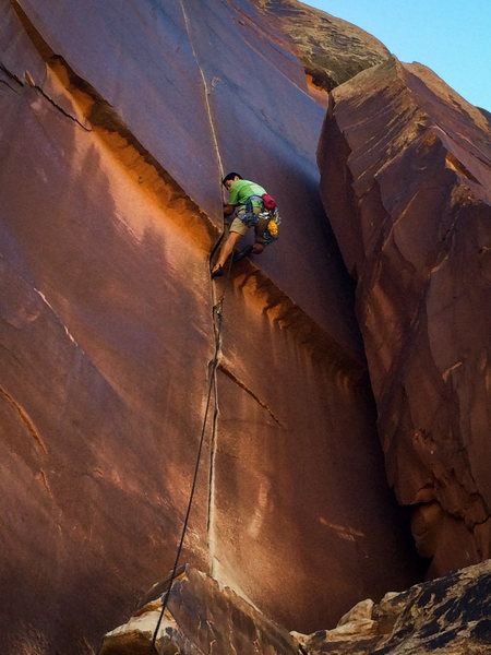 Rock Climbing Photo: on Supercrack for the 10th time