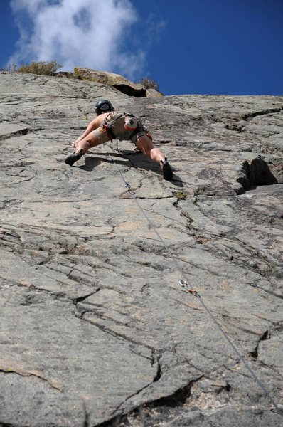 Nice and delicate slab climb.