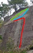 Rock Climbing Photo: OM(red/rouge) Bohème(blue/bleu) Envoûtement(gree...