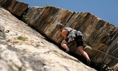 Rock Climbing Photo: Izzie taking the lead.