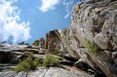 Rock Climbing Photo: Looking up Big Dihedral.
