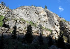 Rock Climbing Photo: Looking up at the Dome from the parking area.