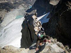 Rock Climbing Photo: Summit climb to Polemonium in the Palisades, Easte...