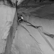 Rock Climbing Photo: Moki Roof, Wall Street, Moab.
