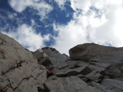 Rock Climbing Photo: Looking up towards the hanging crack and roofs on ...