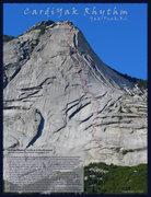 Rock Climbing Photo: CardiYak Rhythm topo courtesy Lyle Knight