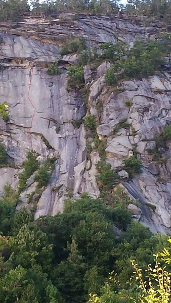 Rock Climbing Photo: 2 routes on the west side. One of them should be W...
