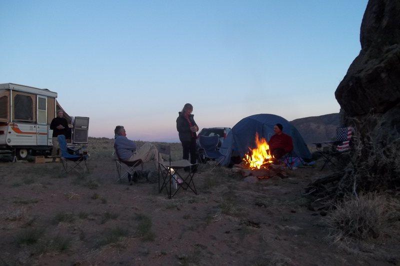 Camping at Manassa.