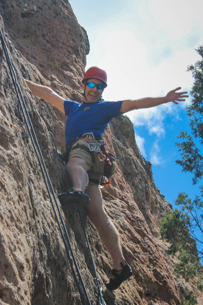 Rock Climbing Photo: Having fun at the Enchanted Tower.