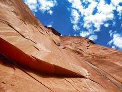 Rock Climbing Photo: 4th Pitch - 180 feet of incredible splitter