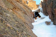Rock Climbing Photo: Elise making easy work of the steep snow and ice.