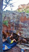 Rock Climbing Photo: Start beta of Defilement.