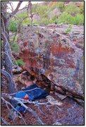 Rock Climbing Photo: Defilement problem beta.