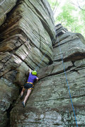 Rock Climbing Photo: Climbing at Rose Ledge in Massachusetts.