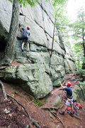Rock Climbing Photo: Climbing at Hewes Hill in Swanzey.