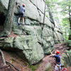 Climbing at Hewes Hill in Swanzey.