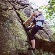 Rock Climbing Photo: Me climbing in Jamaica, VT. Photo by Rachel Squire...