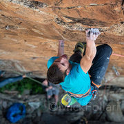 Rock Climbing Photo: Griffler squeezing hard, giving it a go. September...