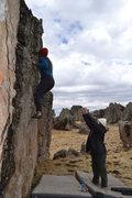 """Rock Climbing Photo: Boulder near """"Casita"""" sector in Hatun Ma..."""