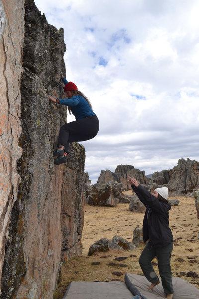 """Rock Climbing Photo: A boulder near """"Casita"""" sector in Hatun ..."""