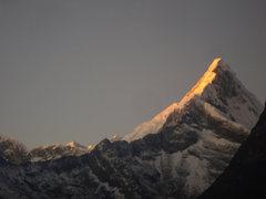 Rock Climbing Photo: Artesonraju´s North ridge as seen from Alpamayo b...