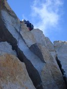 Rock Climbing Photo: Descending from the summit, some rocky slabs.