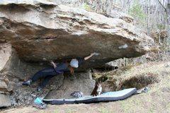 Rock Climbing Photo: Lynn on Pocket Hercules; V7. Start hold broke 2014...