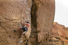Rock Climbing Photo: Adal Bermann on Heresy 5.11c