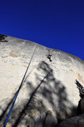 """Rock Climbing Photo: TRing """"March of Dimes"""" (5.10a R), Wester..."""