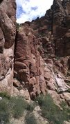 Rock Climbing Photo: Ilan at the top of the stemming section of Rock Lo...