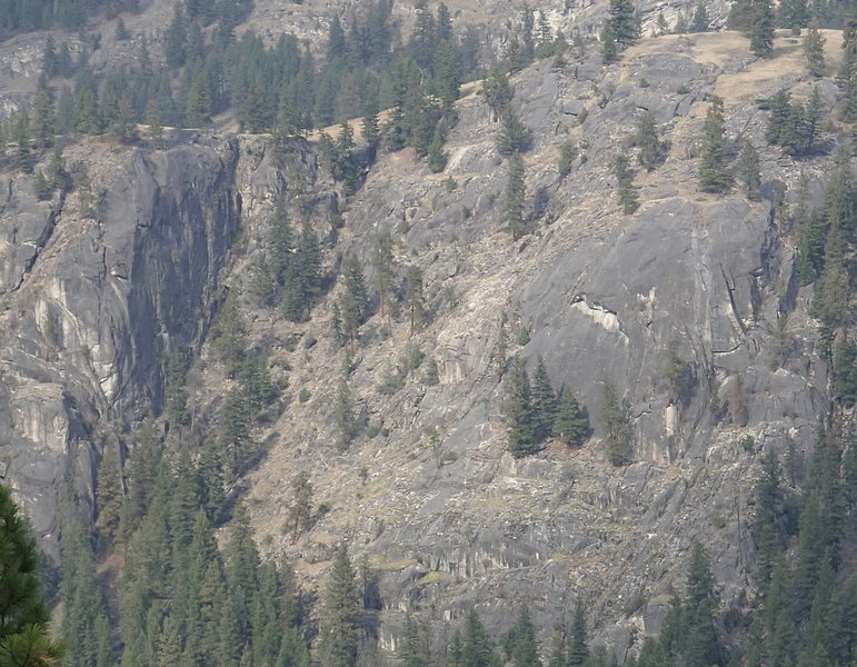 Rock Climbing Photo: The Dome (on right) and Bighorn Wall (on left) fro...