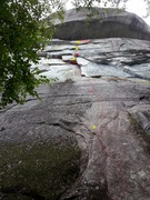 Rock Climbing Photo: Much of the climbing (about 60') is out of sight a...