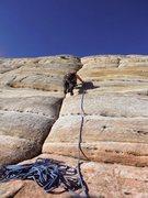 Rock Climbing Photo: Starting up the crack.