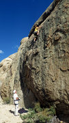 Rock Climbing Photo: Tom Grundy leading Haze