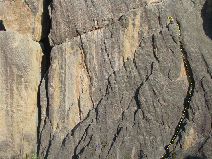 Climbers on 'Conn Diagonal'<br> Photo credit: Brent Larson. Thanks Brent