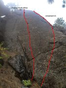 Rock Climbing Photo: Freeing South Africa on the left, unknown route on...