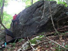 Rock Climbing Photo: Parlier on the FA of Bazinga