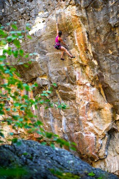 Rock Climbing Photo: Robin Maslowski climbs Mogo