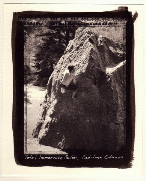 Redstone Boulders, Total Immersion Boulder, platinum print from type 55 negative