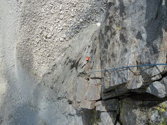 Rock Climbing Photo: James, Ron, & Loren on about pitch 5 of 13 (Venusi...